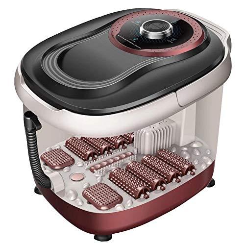 S.perfect Calefacción baño de pies de Profundidad automático Barril de pies Masaje de pies de máquina de pedicura, botón del Ordenador y el Control Remoto