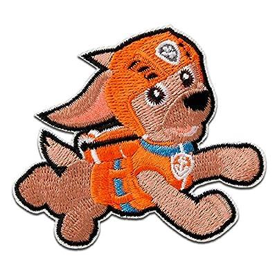 Parches - Paw Patrol Patrulla Canina Zuma - naranja - 5,8x6,6cm - © Spin Master termoadhesivos bordados aplique para ropa por Catch the Patch