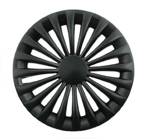 Farad 1-235/15 BLACK Set 4 Coppe Copriruota, Universali, 15 Pollici