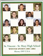 2001-2002 01-02 St. Vincent-St. Mary St. VM Lebron James Junior Year High School Winter Sports Yearbook