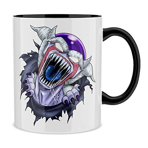 Okiwoki Mug Noir Dragon Ball Z - Alien parodique Freezer : La Naissance d'un Alien. (Parodie Dragon Ball Z - Alien)