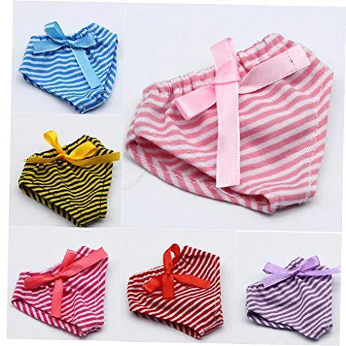 Angoter Gestreifte 43cm Baby Doll Nette Schlüpfer Schöne Muster-Puppe-Unterhose-Dress Up Beste Spielzeug für Kinder Puppe Unterwäsche zufällige Farbe