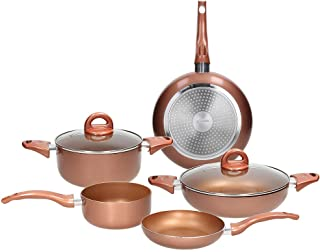 24/cm InnovaGoods Set di padella multifunzione 5/in 1/Copper Argento 4/pezzi Alluminio