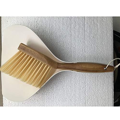 Küche Wasch-Reinigungs-Tools Haushalts-Plastikreinigungsbürste Kleine Besen Staub Schaufel Vanzlife Bambusgriff Mini Besen Schaufel Set für Küche & Kfz Reinigungs-Zubehör