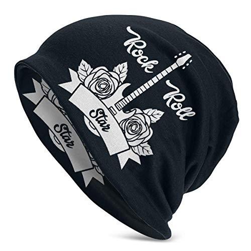 Hdadwy I Love Rock 'n' Roll 3 Unisex Adulto Gorro de poliéster Gorra de Invierno al Aire Libre Moda cálida Gorras