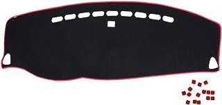Duokon Auto Armaturenbrett Abdeckung Photophobism Matte Teppich Licht Vermeiden Pad Fit F/ür Outlander 13-18 Black /& Red