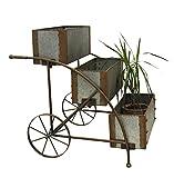 Keyhome - Jarrón portaflores de Metal, Carro para Flores, decoración de...
