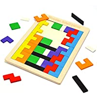 Fricon Wooden Tetris Puzzle Toys