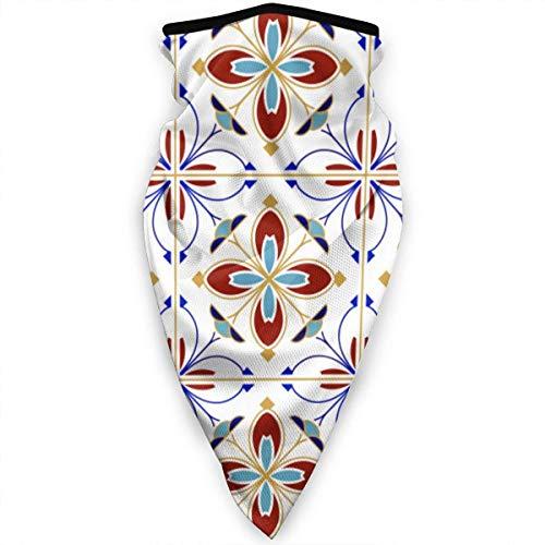 NA Winddicht Gezichtsmasker Bandana Kleurrijk Patroon Naadloze Tegels Ontwerp Abstract Kleurrijke Nek Gaiter Winter Warmer Gezichtsmasker Sport Balaclava