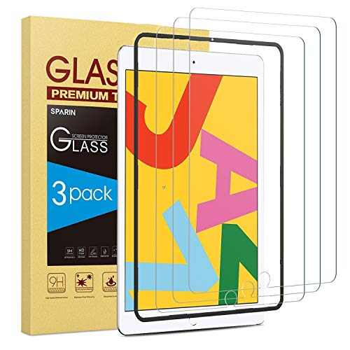 Best Buy! [3 Pack] Screen Protector for iPad 10.2 (2019), SPARIN Tempered Glass for iPad 10.2 (7th G...