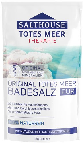 Salthouse Totes Meer Therapie Badesalz Pur - 8x 500 g