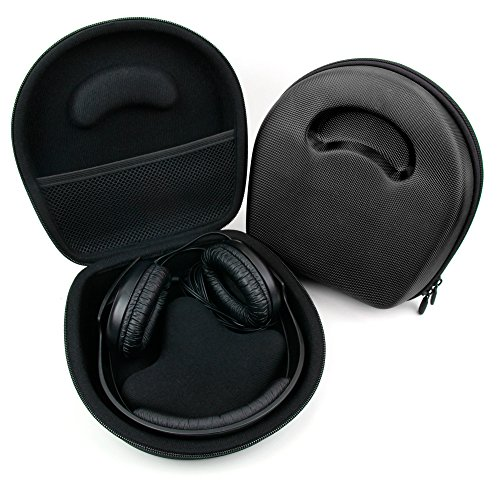 DURAGADGET Black Case (Headphones NOT Included) - Compatible with Sennheiser HD25-1 | HD 25-1 II Adidas Originals | HD65 | HD201 | HD202 | HD 202-II | HD203 | HD205 | HD215 | HD219 | HD280 | HD219S