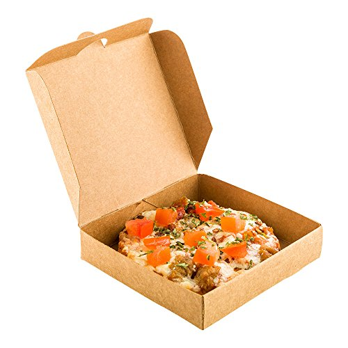 Mini Pizza Box Mini Square Cardboard Pizza Box Disposable Pizza Box  Kraft Brown  35quot  100ct Box  Restaurantware