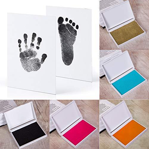 Chennie Bebé Seguro Imprimir Huella de Almohadilla de Tinta Y Kit de Huella de Mano Recuerdos Fabricante de Recuerdos Diy