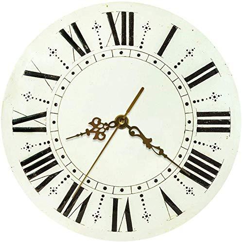 ZYZYY Reloj de pared, retro antiguo reloj de pared redondo c