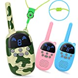 Walkie Talkies for Kids Long Range, LITTLELOGIQ Two Way Radios 3 Pack, Clear Sound, Anti-Fall, Ideal Gift Set for Boys,...
