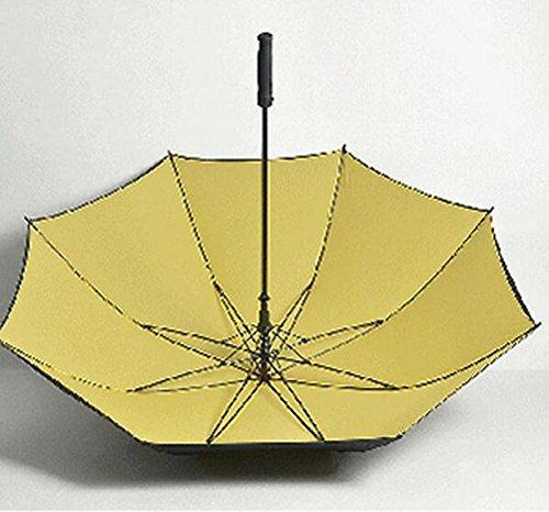 WYF-YS Paraguas de Mango Largo Doble Mango Recto Viento de Gran tamaño Paraguas Soleado Hombres Frescos Paraguas publicitario Creativo (Color : D)