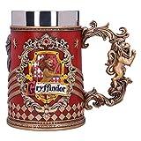Nemesis Now B5606T1 Harry Potter – Chope à bière de collection – Motif : Gryffondor – Cadeau pour Fan et Passionné – Qualité Supérieure – Rouge et Argenté – 15,5 CM, Résine, 15,5cm