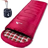 Best Lightweight Sleeping Bags - Reisen 0 degree lightweight sleeping bag flannel, cold Review