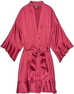 (ヴィクトリアシークレット)VICTORIA'S SECRET サテンローブ ガウン Flounce-sleeve Kimono [並行輸入品]