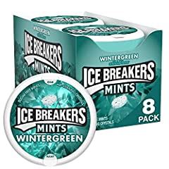 Tins of Ice Breakers wintergreen mints Enjoy right after a meal or whenever you need a rush of coolness Resealable mint tin dispenser is perfect for on the go use Refreshing sugar free mints have 30% fewer calories than sugared mints Stock up on Hall...