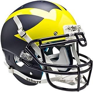 Schutt Michigan Wolverines Matte Blue Officially Licensed XP Authentic Football Helmet
