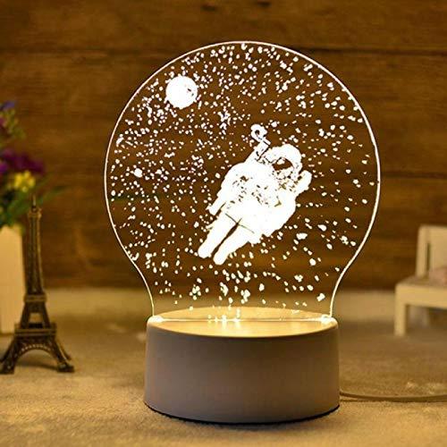 TYWFIOAV 3D Night Light Creative Cartoon LED Elk Novelty Luminaria Led Children's Bedroom Led Plug Children Lamp
