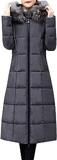 Womens Hooded Warm Coats Parkas with Faux Fur Jackets Pocket Coats