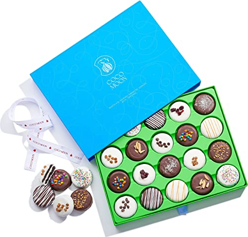 Coco Moon Gourmet Chocolate Cookie Gift Basket, Sweets Gift Basket -...