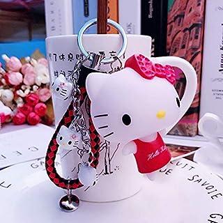 Color : J44 A Llavero Cadena Llavero de dibujos animados Hello Kitty Bolsa de encanto pendiente de la llave for mujeres de la muchacha del estudiante llavero del coche regalo de cumplea/ños lindo