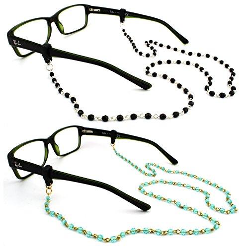 Peeper Keepers Braided Leather Adjustable Eyeglass Retainer w//Cloth /& Screwdriver 1 pack Black