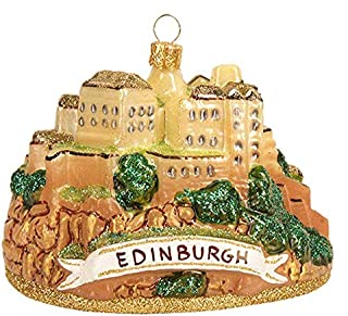 Scotland Edinburgh Castle Polish Glass Christmas Ornament Travel Souvenir