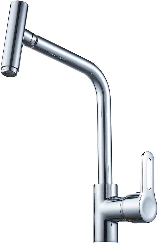 Single Lever High Nozzle Spout Mixer Kitchen Faucet Single Handles Mixing Monobloc Valve Tap Brass redatable Sink Dishwasher Mixer Taps Pool Wash Valve Commerce Bar Faucets
