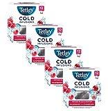 Tetley Infusión fría de hierbas y frutas con arándano y frambuesa - 4 x 12 Bolsitas de té (108 gramos)