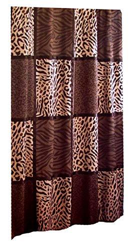 Animal Print Fabric Shower Curtain
