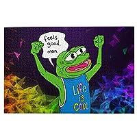 1000ピース ジグソーパズルカエルのペペ (5) 環境保護、無臭、知的開発、親子ジグソーパズル!良質な木製パズル、家庭レジャーと娯楽のジグソーパズル!サイズ75.5*50.3 Cm