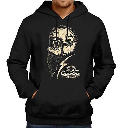 Gasoline Bandit® Design - Rockabilly Biker Racer Kapuzen-Pullover: Respect-XXXL