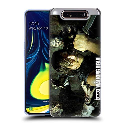 Offizielle AMC The Walking Dead Daryl Messer Spaziergänger Und Persönlichkeiten Soft Gel Huelle kompatibel mit Samsung Galaxy A80 (2019)