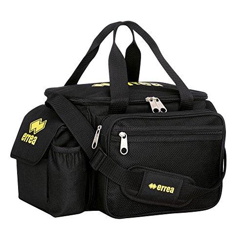 APOLLO Arzttasche (extra groß mit 5 Fächern) mit gepolstertem Tragegurt von Erreà · UNIVERSAL Sanitätstasche (Sanitätskoffer) für erste Hilfe beim Indoor-Outdoor-Sport · (Farbe schwarz, Größe ONESIZE)