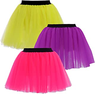 Runners Tutu Colorful Running Tulle Skirts Lightweight Adjustable One Size Pink/Purple/Yellow 3 Colors of Set