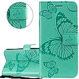 HMTECHUS OnePlus 6T Case Elegant Embossed Butterfly Card Slots...