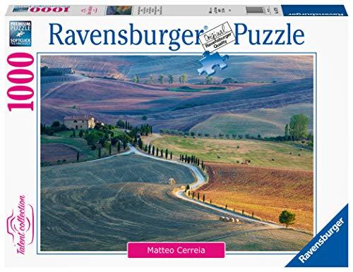 Ravensburger, Puzzle 1000 pezzi, Puzzle da Adulti, Talent Collection, Podere Terrapille, Pienza, Siena, Toscana, Puzzle Foto e Paesaggi, Natura, Relax