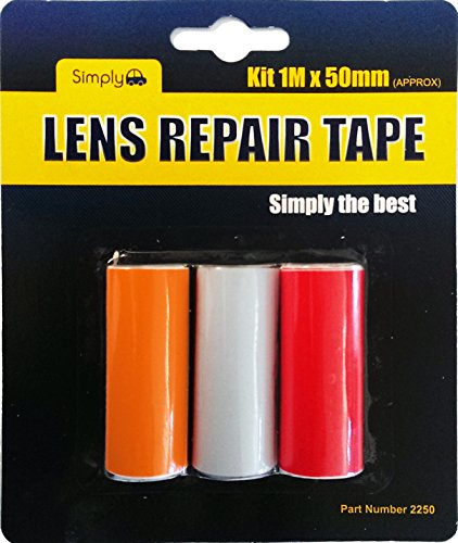 Simply 2250 Objektiv Reparaturband, rot/klar/gelb