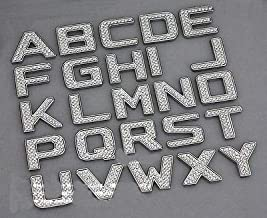TRUE LINE Automotive Customized Iced Out Crystal Diamond Chrome Letters Emblem Badge Kit