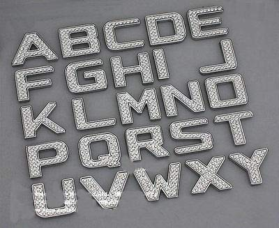 TRUE LINE Automotive Customized Iced Out Crystal Diamond Chrome Letters Emblem Badge Kit