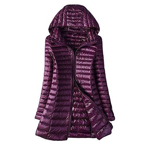 MCSZG Heißer Winter Jacke Frauen Entendaunenschlanke Lange Parkas Damen warme Mantel mit Kapuzeultraleichte Oberbekleidung mäntel