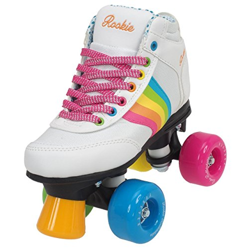 Rookie  -Forever Rainbow - Patins à 4 roues - Mixte Adulte - Blanc (multicolore) - 33