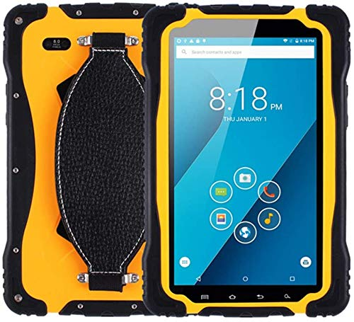 Escáner de código de barras de mano Tableta Rugged PC de 7 pulgadas con Android 7.0, Industria al aire libre IP67 A prueba de agua 1GB + 16GB WiFi GPS BT 3G 4G 9650MAH Batería para trabajos móviles de