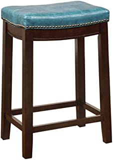 linon allure counter stool blue