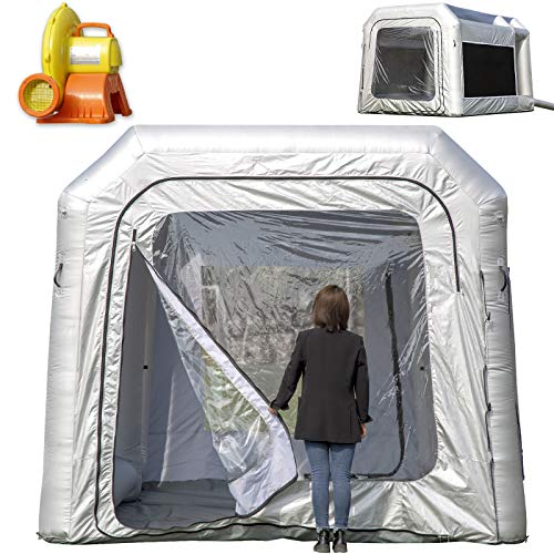 OZIS Inflatable Paint Booth 13X10X8Ft Upgrade Larger Filter System with 950W Blower, Larger Space Spray Booth No Tool Room, Portable Airbrush Painting Tent Workstation